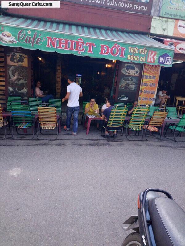 Sang quán cafe MT Nguyễn Oanh quận gò Vấp