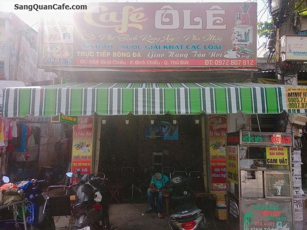 Sang Quán Cafe Mặt Tiền Quận Thủ Đức.