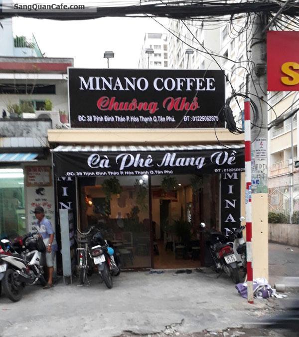 Sang quán Cafe MiLaNo 2 mặt tiền quận Tân Phú