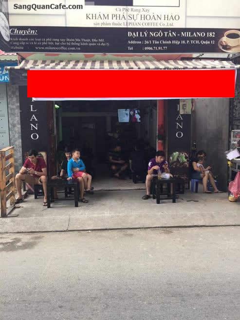 Sang quán cafe Milano quận 12