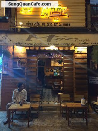 Sang quán cafe ốp gỗ quận 10