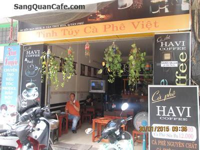 sang quán cafe quận Tân Phú .