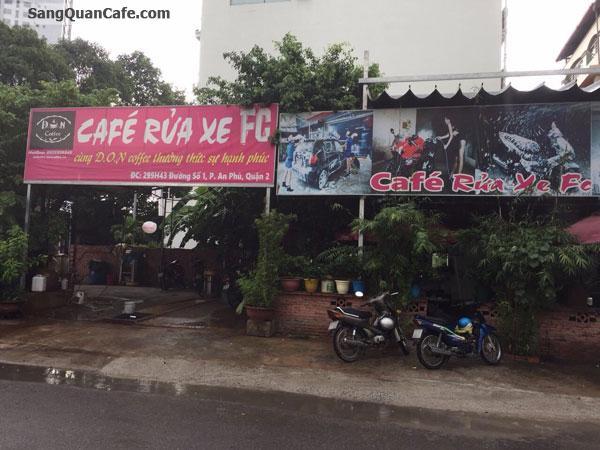 Sang quán cafe rửa xe khu Sông Giòng quận 2