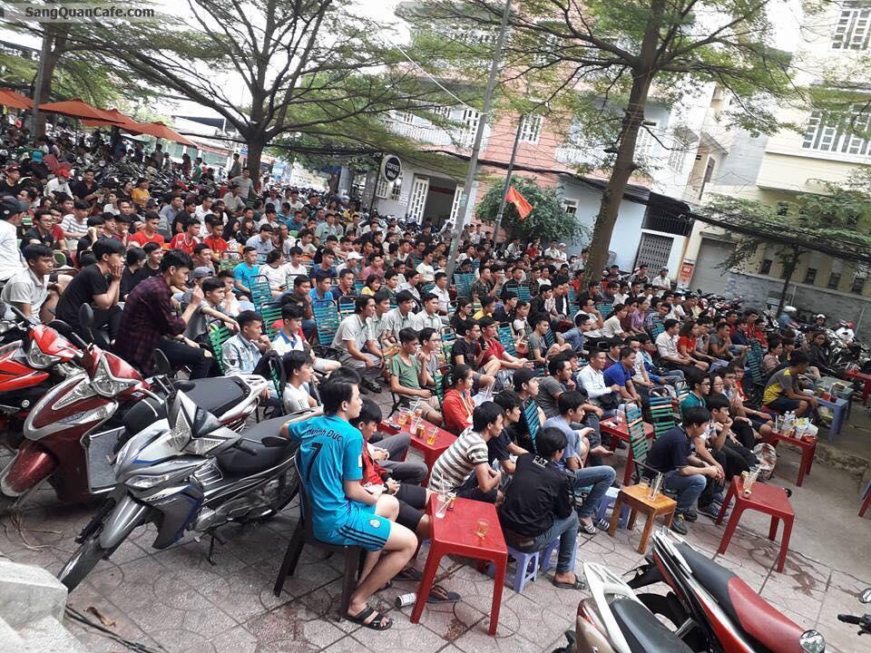 Sang quán cafe sân vườn Chung Cư C3