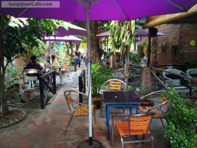 Sang quán cafe Sân vườn Khu biệt thự Làng Hoa GV