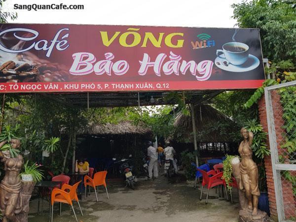 Sang quán Cafe sân vườn Mặt tiền Đường Tô Ngọc Vân