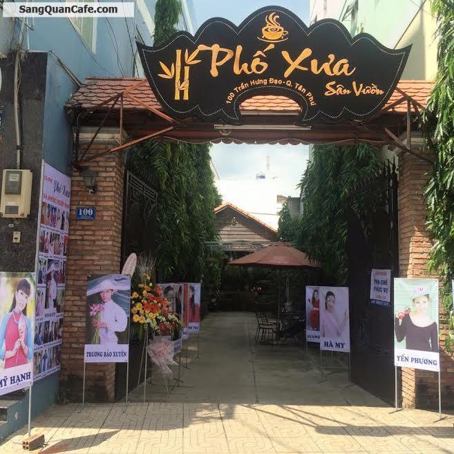 Sang quán cafe Sân Vườn quận Tân Phú