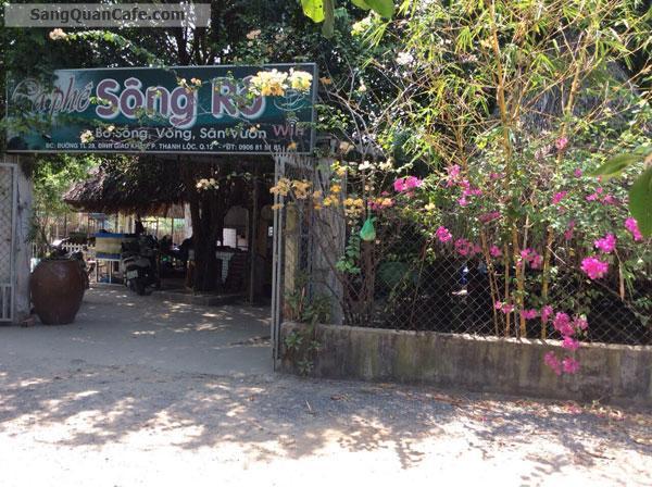 Sang quán cafe sân vườn, võng bờ sông