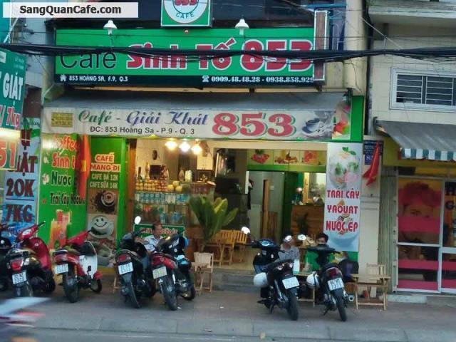 Sang quán cafe sinh tố đường Hoàng Sa