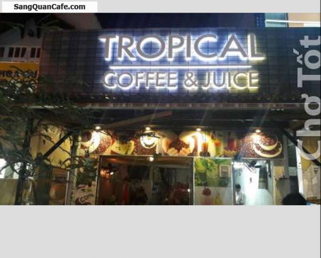 Sang quán cafe sinh tố, trái cây tô