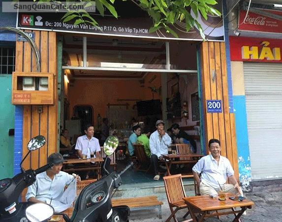 Sang quán cafe tại đường Nguyễn Văn Lượng, Phường 17, Gò vấp