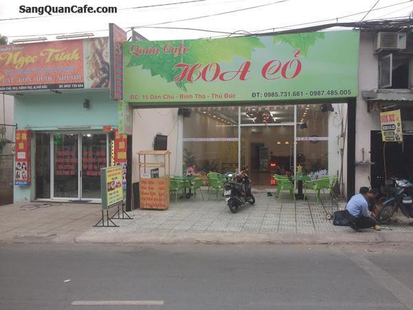 Sang quán Cafe trà sữa, sinh tố đường Dân Chủ
