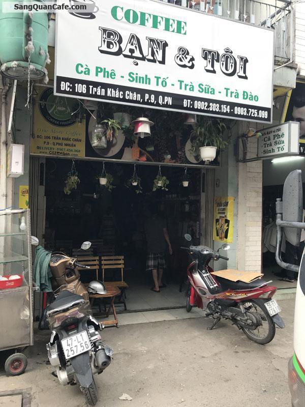Sang quán cafe - trà sữa - sinh tố quận Phú Nhuận