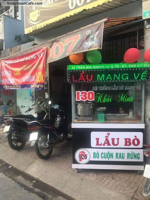 Sang quán cafe vị trí đẹp 180 Hiền Vương, Phú Thạnh, Tân Phú