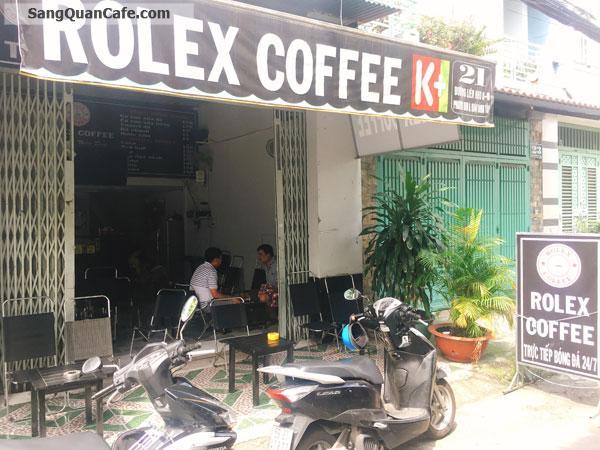 Sang quán cafe vị trí đẹp góc 2 mặt tiền