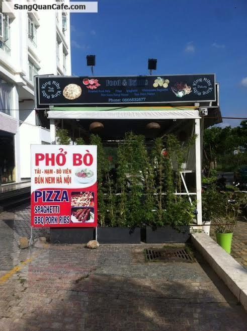 Sang quán cafe - phở bò khu Căn Hộ Phú Hoàng Anh