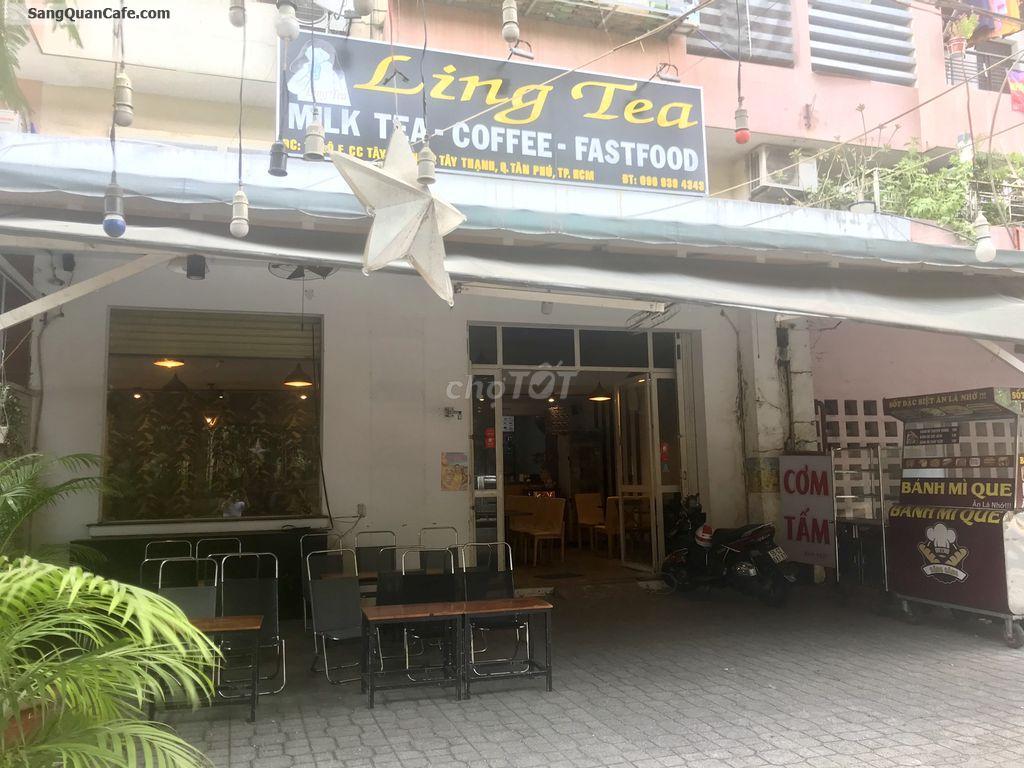 Sang quán Coffee , trà sữa ling's Tea đối diện trường